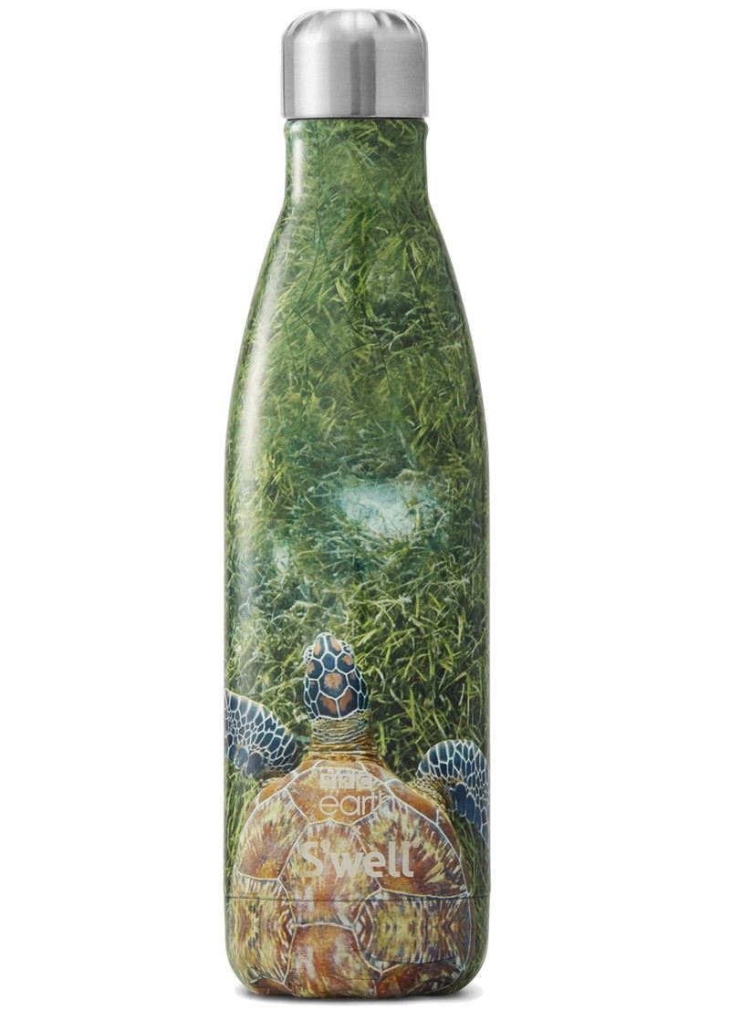 SWELL BBC Earth 17oz Water Bottle - Green Turtle main image