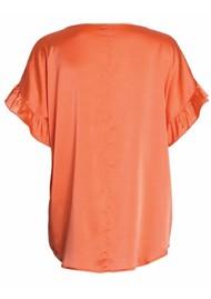 DEA KUDIBAL Violetta Silk Blouse - Tangerine