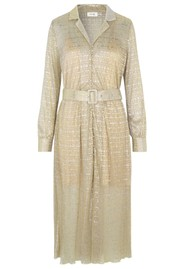LEVETE ROOM Juliet Metallic Dress - Shimmer
