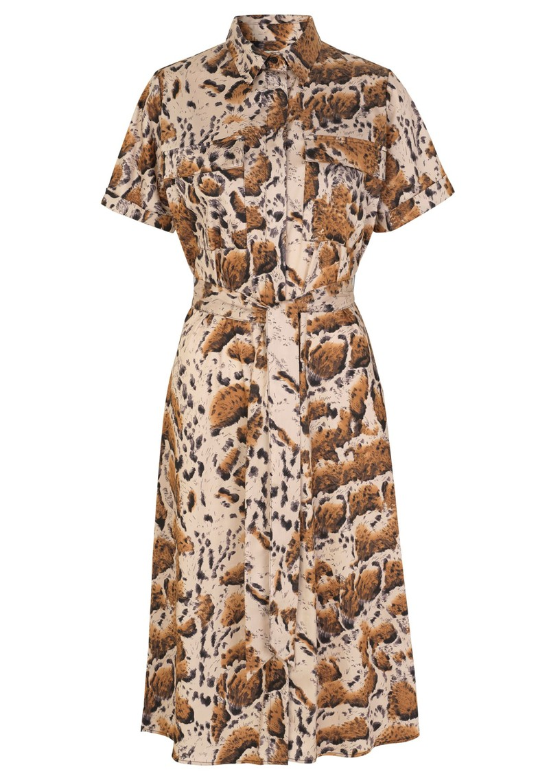 LEVETE ROOM Judy Shirt Dress - Animal Print main image