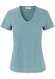 LEVETE ROOM Any Short Sleeve T-Shirt - Egg Blue