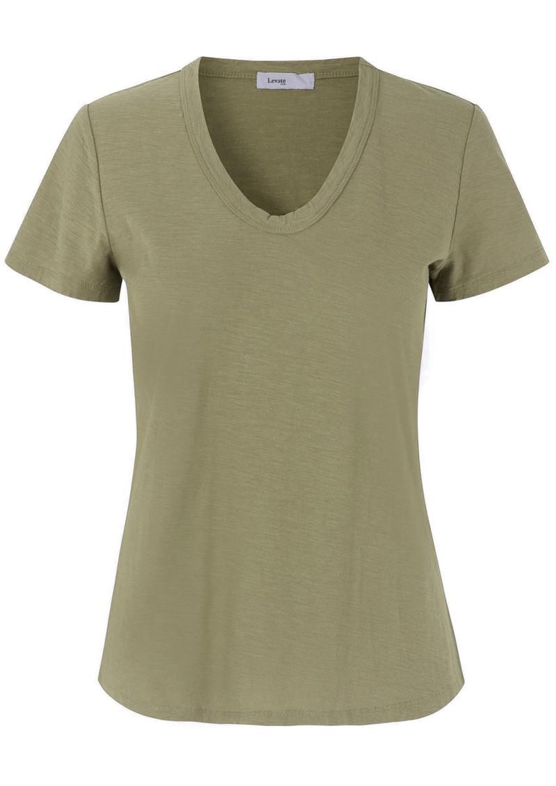 LEVETE ROOM Any Short Sleeve T-Shirt - Light Khaki main image