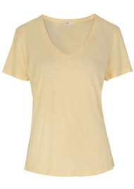 LEVETE ROOM Any Short Sleeve T-Shirt - Yellow