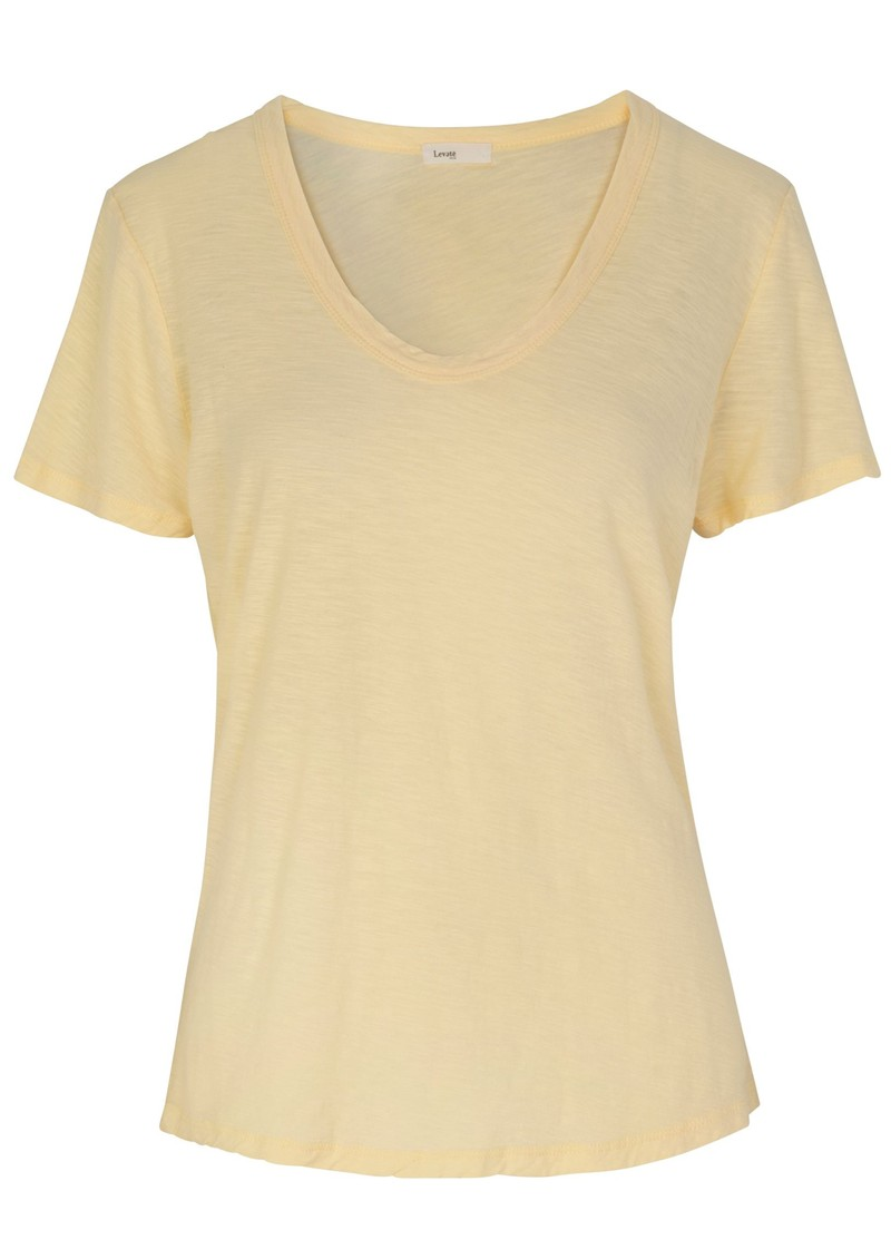 LEVETE ROOM Any Short Sleeve T-Shirt - Yellow main image