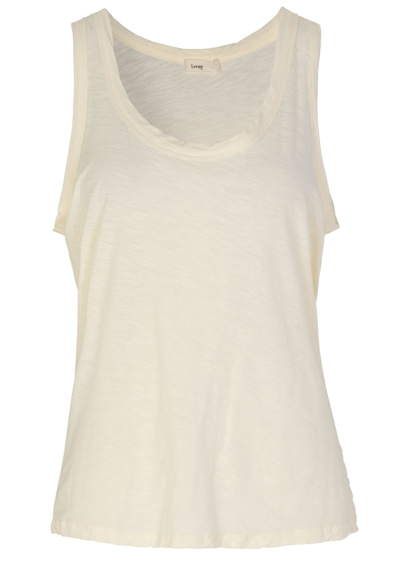 LEVETE ROOM Any 7 Tank Top - Cream main image