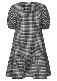LEVETE ROOM Felia Check Dress - Black & White