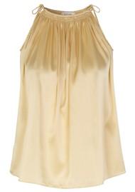 LEVETE ROOM Dakota Silk Top - Gold