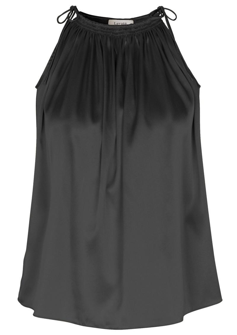 LEVETE ROOM Dakota Silk Top - Black main image