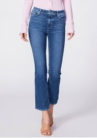Paige Denim Claudine Ankle Flare Jeans - Roadie Distressed