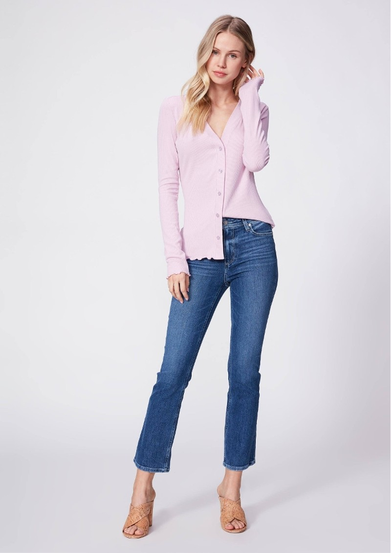 Paige Denim Claudine Ankle Flare Jeans - Roadie Distressed main image