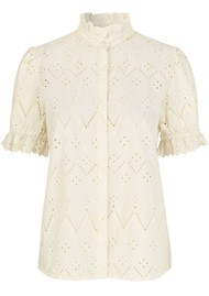 LEVETE ROOM Jennifer Shirt - Cream