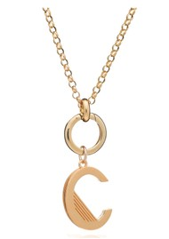 RACHEL JACKSON Statement Initial 'C' Necklace - Gold