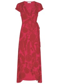 FABIENNE CHAPOT Archana Wrap Dress - Pink Parrot