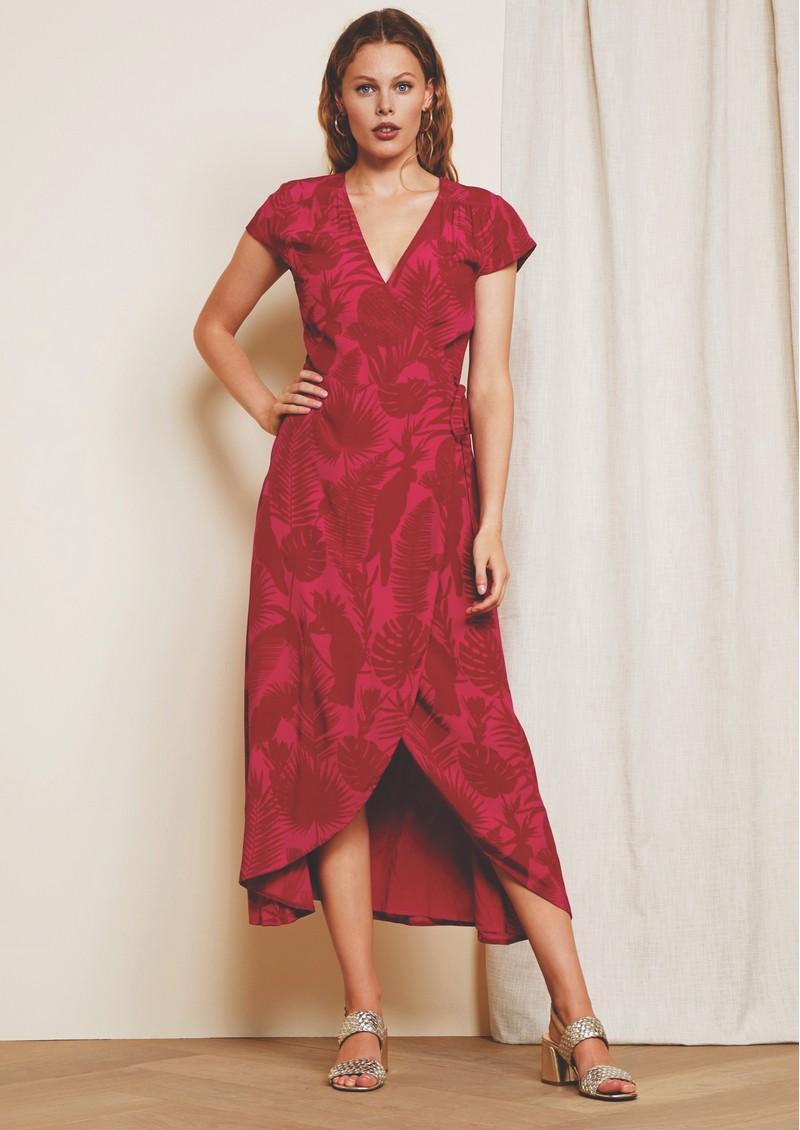 FABIENNE CHAPOT Archana Wrap Dress - Pink Parrot main image