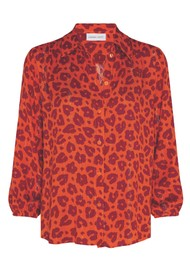 FABIENNE CHAPOT Miranda Blouse - Lolita Leopard Orange