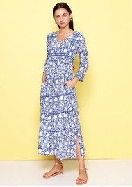 DREAM Melody Cotton Dress - Blue & White