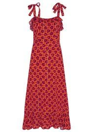FABIENNE CHAPOT Carmen Dress - Lolita Leopard Orange