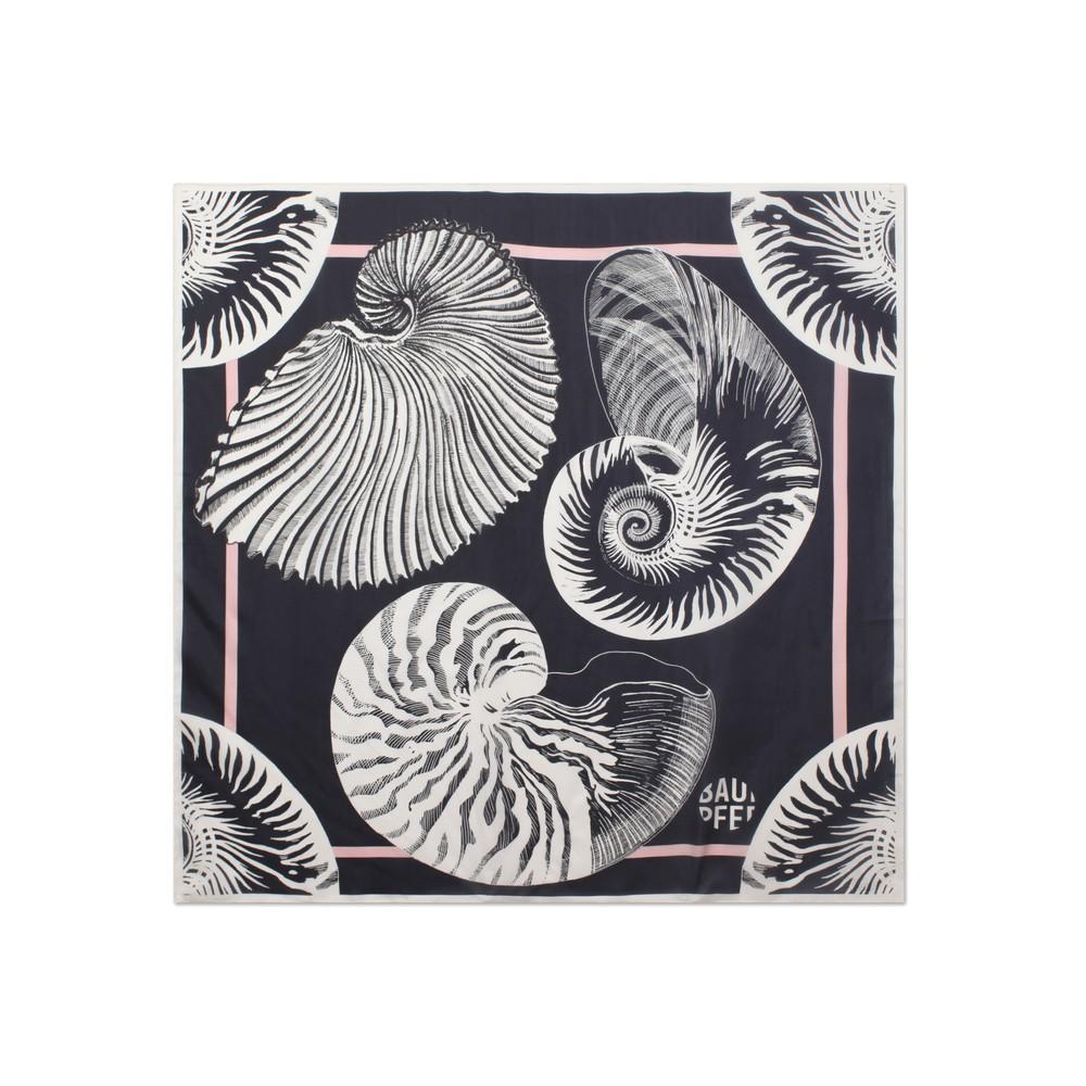 Lacey Silk Scarf - Black Shell Wallpaper