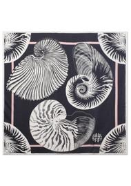 BAUM UND PFERDGARTEN Lacey Silk Scarf - Black Shell Wallpaper