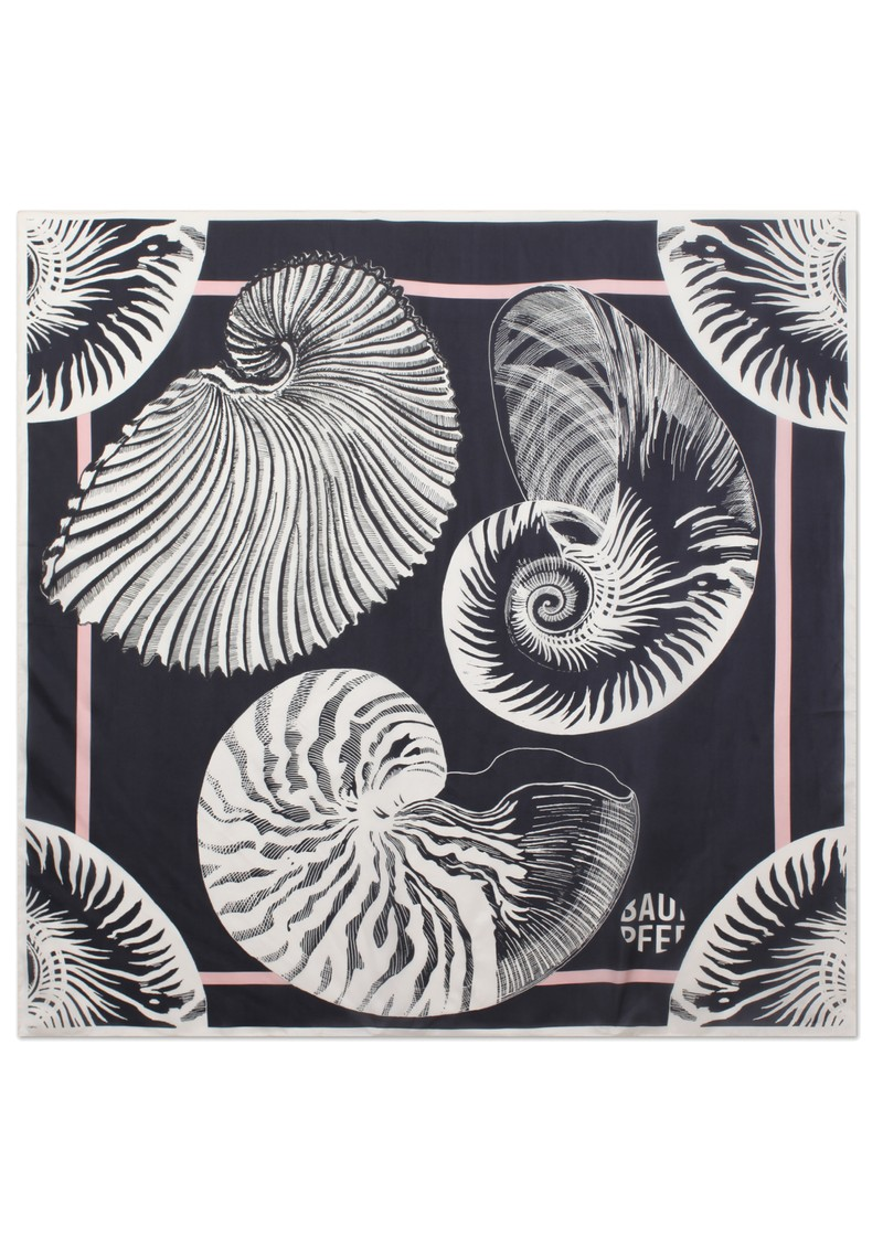 Lacey Silk Scarf - Black Shell Wallpaper main image