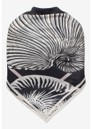 Lacey Silk Scarf - Black Shell Wallpaper additional image