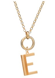 RACHEL JACKSON Statement Initial 'E' Necklace - Gold