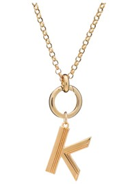 RACHEL JACKSON Statement Initial 'K' Necklace - Gold