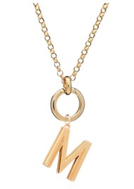RACHEL JACKSON Statement Initial 'M' Necklace - Gold