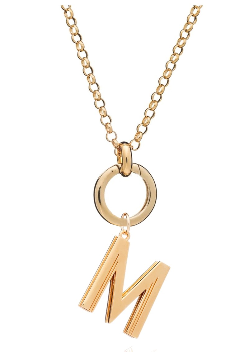 RACHEL JACKSON Statement Initial 'M' Necklace - Gold main image