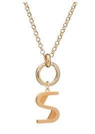 RACHEL JACKSON Statement Initial 'S' Necklace - Gold