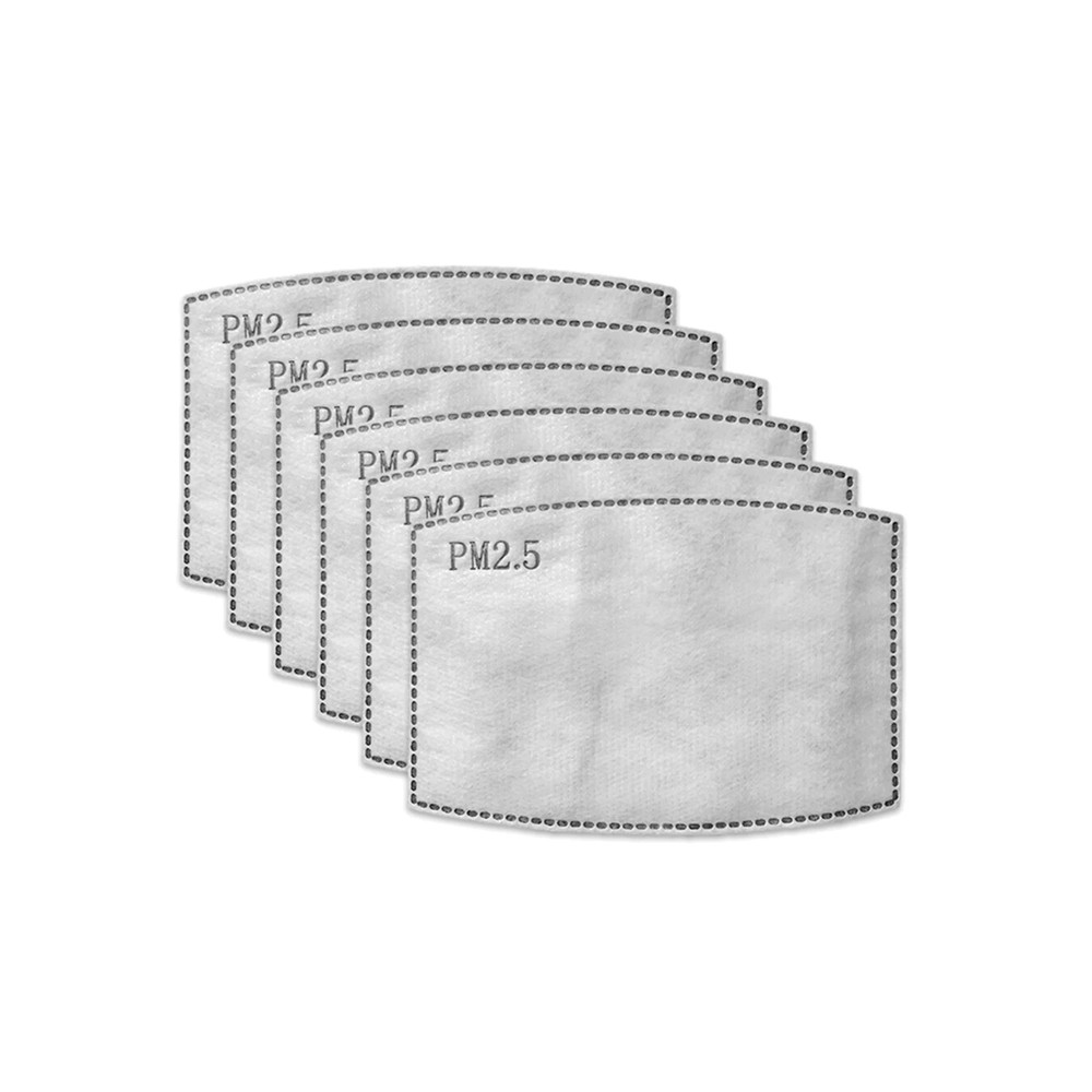 Adult Face Mask Replacement Filters - Pack of 6