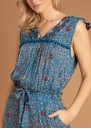 POUPETTE ST BARTH Long Mya Pom Pom Trimmed Jumpsuit - Blue Leo