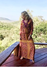 TRIBE + FABLE California Kaftan Dress - Earth