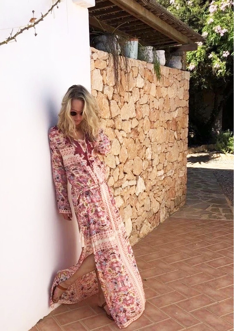 TRIBE + FABLE California Kaftan Dress - Air main image
