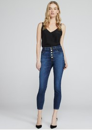 J Brand Lillie High Rise Photo Ready Crop Skinny Jeans - Arcade