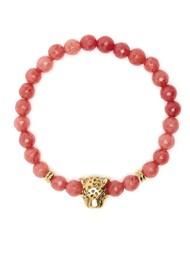 TRIBE + FABLE Leopard Beaded Bracelet - Jasper