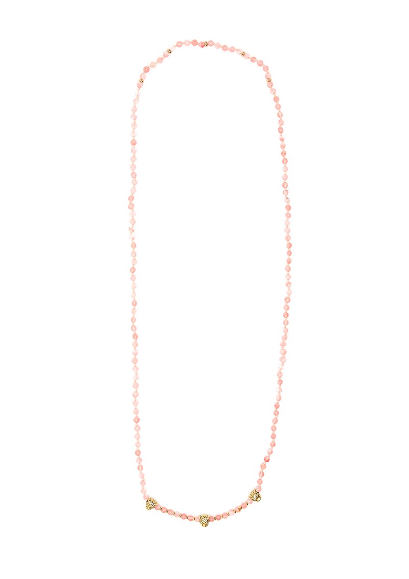 TRIBE + FABLE Leopard Beaded Necklace - Jasper main image