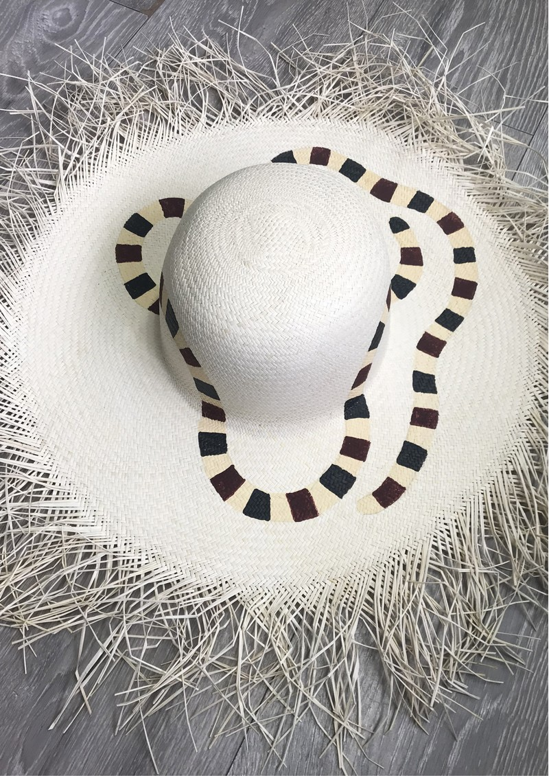 POOK HATS Raw Ends Hat - Snakes main image