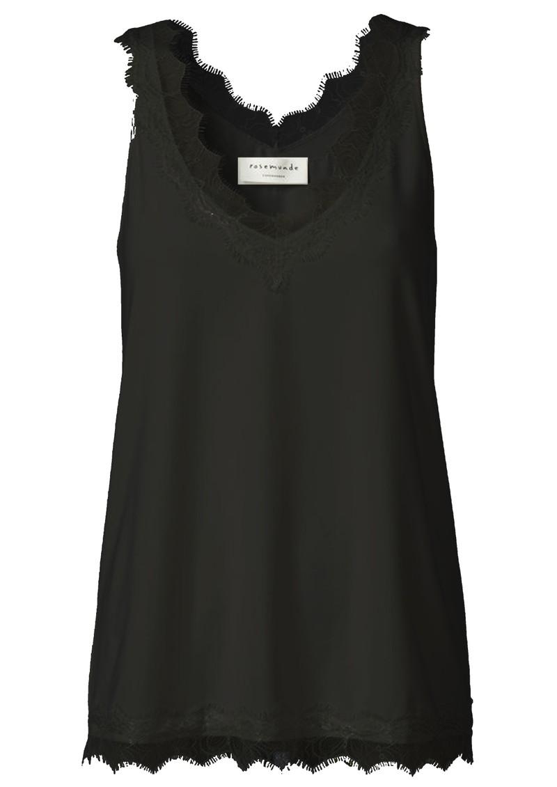 Rosemunde Simple Lace Top - Black main image