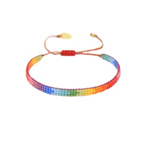 Rainbow Track Beaded Bracelet - Multi