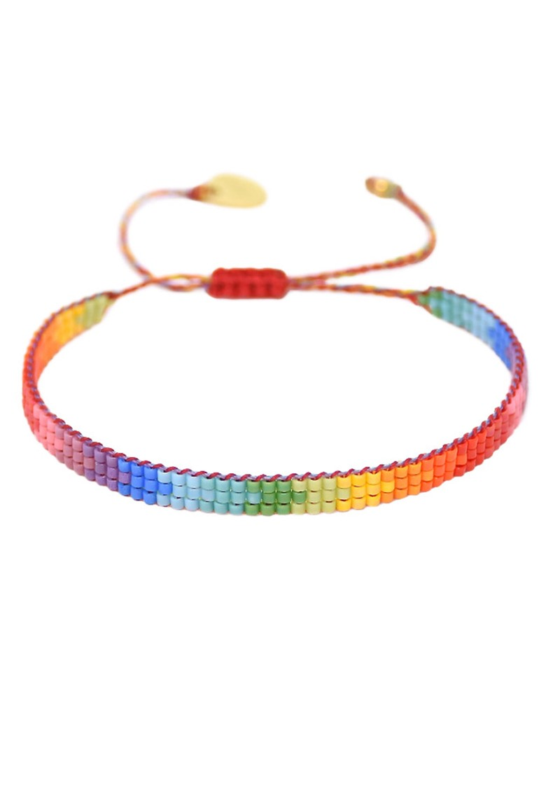 MISHKY Rainbow Track Beaded Bracelet - Multi main image