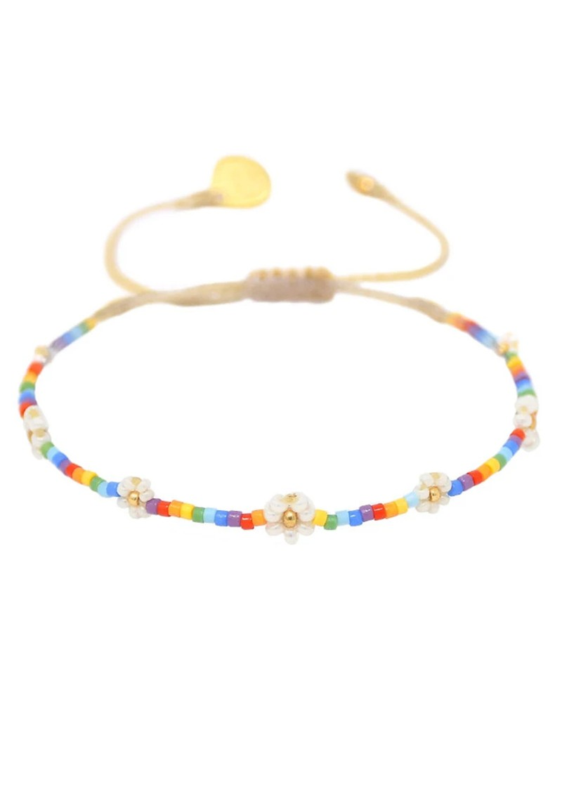 MISHKY Rainbow Flower Pow Beaded Bracelet - Multi main image
