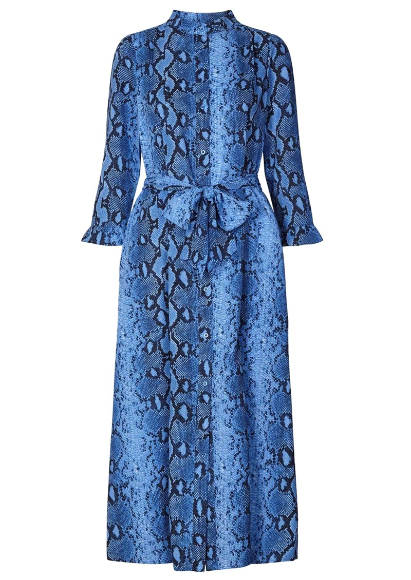 LOLLYS LAUNDRY Harper Python Printed Dress - Blue main image