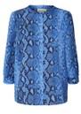 LOLLYS LAUNDRY Amalie Python Blouse - Blue