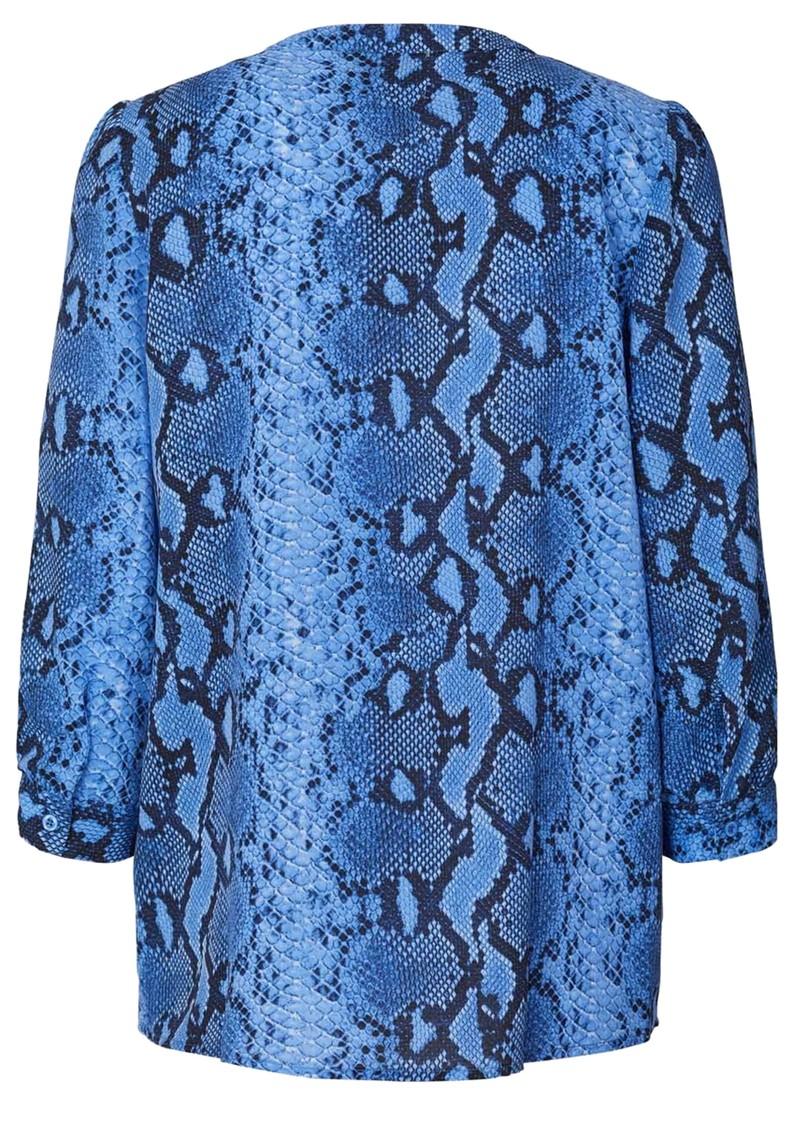 LOLLYS LAUNDRY Amalie Python Blouse - Blue main image