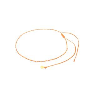 Rainbow Beaded Choker Necklace - Orange