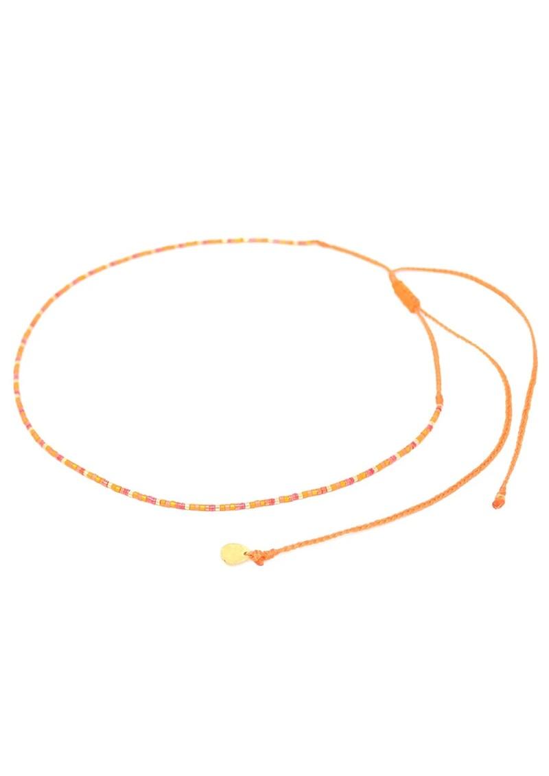 MISHKY Rainbow Beaded Choker Necklace - Orange main image