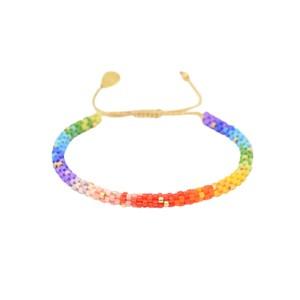 Rainbow Hoopys Beaded Bracelet - Multi