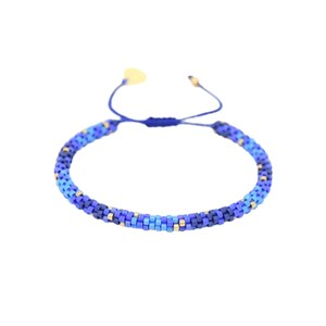 Rainbow Hoopys Beaded Bracelet - Blue