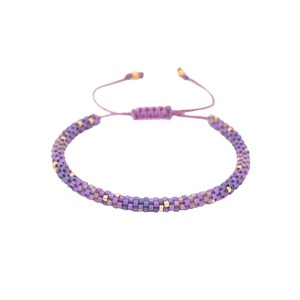Rainbow Hoopys Beaded Bracelet - Purple